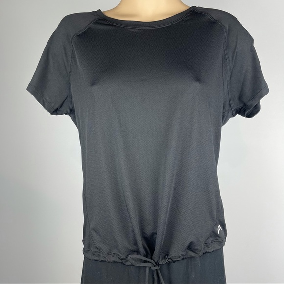 Rockwear Black Toggle Fitted Bottom Top - Size 10